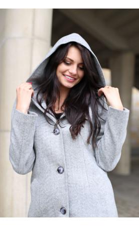 Jasnoszary płaszczyk do pracy, Elegancka odzież wierzchnia na każda okazję od Choice