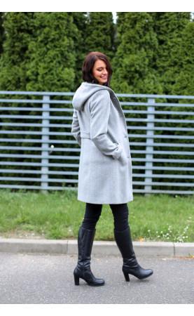 Zimowy płaszcz z kapturem, Ciepłe płaszcze na późną jesień lub zimę od Choice