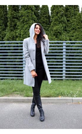 Taliowany płaszczyk zapinany na guziki, Eleganckie stylizacje na jesień lub zimę od Choice