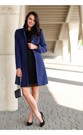 Kobiecy płaszcz taliowany, Ekskluzywna odzież damska na co dzień od Choice