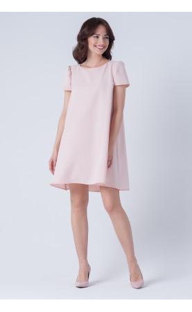 Asymetryczna Rozkloszowana Sukienka Rosi Różowa