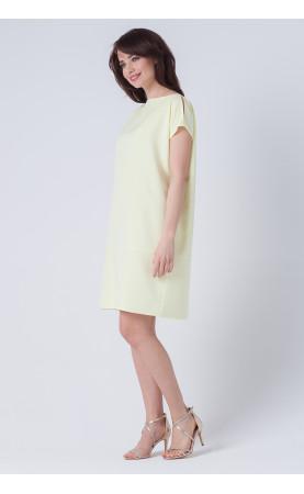 Mini Sukienka Oversize Melodie Żółta