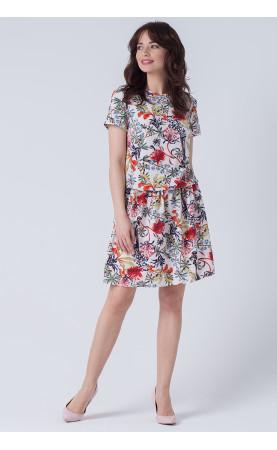 Wakacyjna kreacja na wczasy lub urlop, Śliczne sukienki o motywie roślinnym od Choice