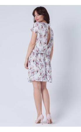 Zalotna sukienka z krótkim rękawem, Luźne kreacje od Polskiego producenta Choice