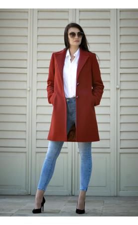 Perfekcyjny płaszczyk z kieszeniami, Zimowe okrycia wierzchnie zapinane na guziki od Choice