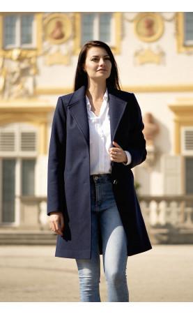 Elegancki płaszcz na kolano, Piękne stylizacje od Polskiego producenta od Choice