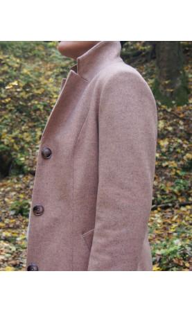 Flauszowy płaszcz z dodatkiem wełny, Komfortowe okrycia wierzchnie na zimę od Choice