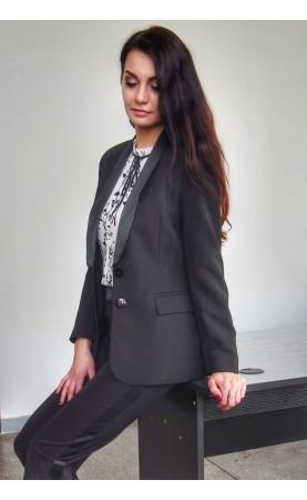 Elegancki żakiet w kolorze czarnym, Stylowe marynarki do pracy Choice