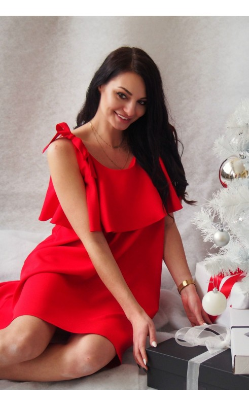 Mini sukienka wiązana na ramionach, Stylowe kreacje od Polskiego producenta odzieży damskiej Choice