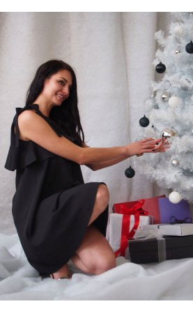 Oryginalna sukienka z falbaną, Modne suknie od Polskiego producenta Choice