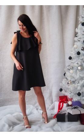 Zmysłowa suknia w kolorze czarnym, Piękne suknie na imprezy rodzinne od Choice
