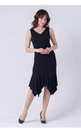 Dopasowana sukienka z zmysłowym dekoltem, Wiskozowe suknie na lato od Choice