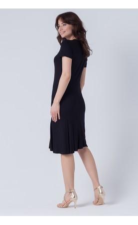 Klasyczna sukienka czarna na ważne uroczystości, Wieczorowa kreacja na kolację od Choice