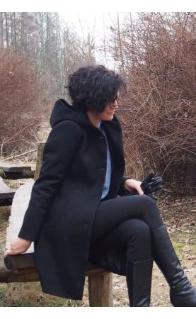 Uniwersalny płaszcz damski z dużymi guzikami, Midi płaszcze na zimę od Choice