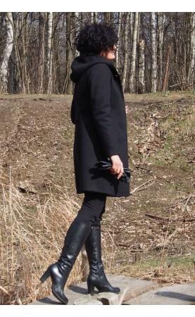 Stylowy płaszczyk z długimi rękawami, Eleganckie płaszcze do pracy na zimę od Choice