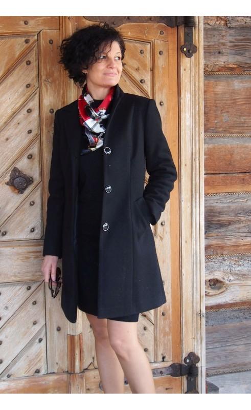 Klasyczny płaszcz w kolorze czarnym, Nowoczesna odzież wizytowa od Choice