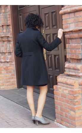 Midi płaszczyk z kołnierzem, Stylowe ubrania wizytowe od Choice