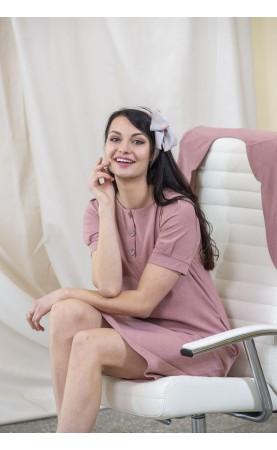 Elegancka sukienka w kolorze różowym, Nowoczesne sukienki lniane od Choice