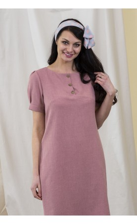 Piękna sukienka z krótkim rękawem, Luźne kreacje do pracy od Choice