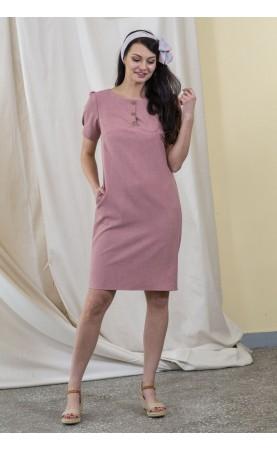 Lniana sukienka z kieszonkami, Oryginalne suknie dla managerek od Choice