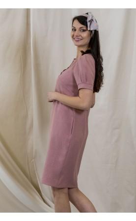 Elegancka sukienka nad kolano, Wygodne kreacje dla kobiet XL od Choice