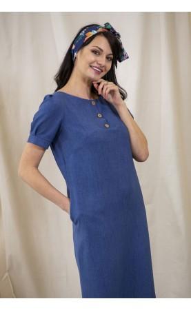 Lniana sukienka wizytowa, Casualowe kreacje na zakupy z przyjaciółką od Choice