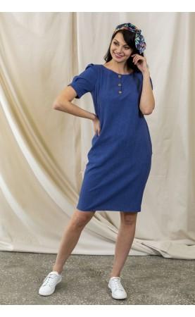 Niebieska sukienka do pracy, Eleganckie sukienki z krótkim rękawkiem od Choice
