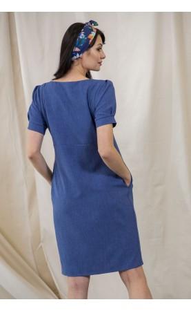 Wygodna sukienka z kieszeniami, Koktajlowe sukienki na spotkania biznesowe od Choice
