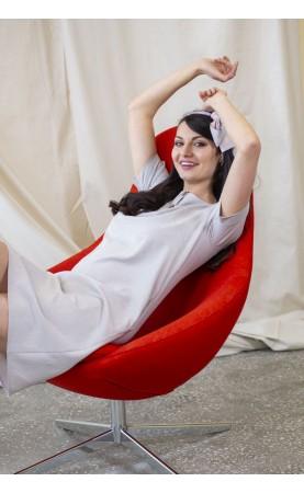 Jasnoszara sukienka do pracy, Nowoczesne kreacje wizytowe od Choice