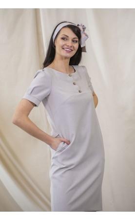 Modna sukienka lniana dla kobiet o wyszukanym guście, Nowoczesne sukienki wizytowe od Choice