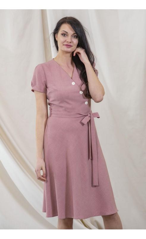 Śliczna sukienka rozkloszowana, Różowe kreacje na imprezy firmowe od Choice