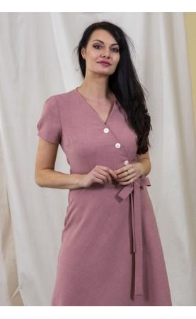 Różowa sukienka z krótkim rękawkiem, Biznesowe kreacje dla kobiet aktywnych zawodowo od Choice