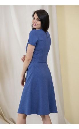 Śliczna sukienka z krótkim rękawkiem, Midi kreacje wizytowe od Choice