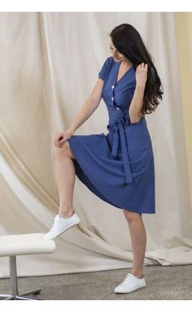 Stylowa sukienka podkreślająca wcięcie w talii, Profesjonalna odzież wizytowa od Choice