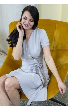 Biznesowa sukienka o rozkloszowanym kroju, Midi kreacje dla kobiet na stanowisku od Choice
