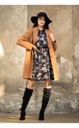 Beżowy płaszcz damski nad kolano, Stylowe modele na każdą okazję od Choice