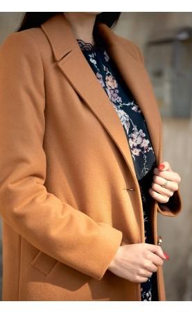 Elegancki płaszczyk z kołnierzem, Midi płaszczyki dla kobiet w każdym rozmiarze od Choice