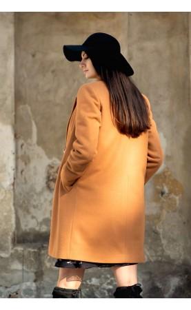 Casualowy płaszczyk zapinany na guziki, Modne płaszcze damskie na zimę od Choice