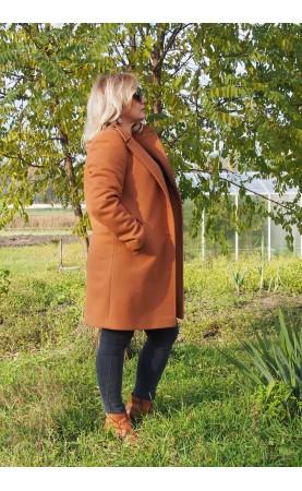 Piękny płaszczyk z kieszeniami, Nowoczesne płaszcze damskie z kołnierzem od Choice