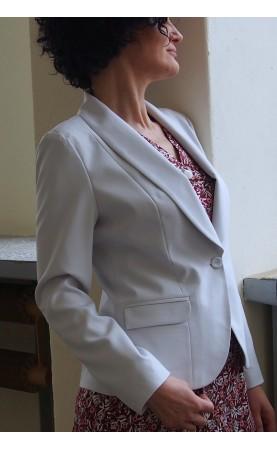 Kobiecy żakiet w kolorze jasnoszarym, Profesjonalna odzież wizytowa od Choice