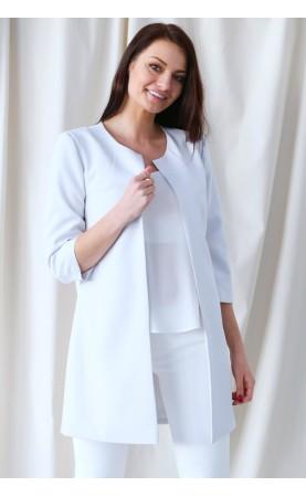 Lużna marynarka bez kołnierza, Doskonałe żakiety dla eleganckich kobiet od Choice