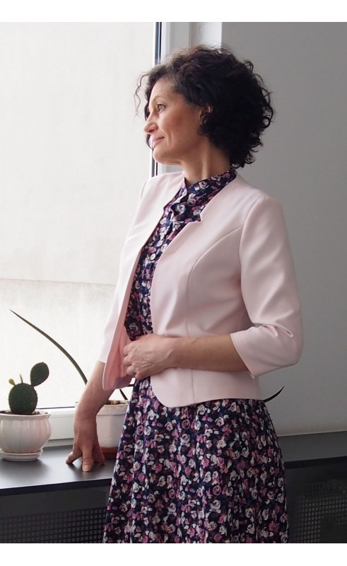 Jasnoróżowy żakiet wizytowe, Nowoczesna odzież damska od Polskiego producenta Choice