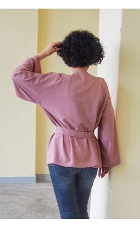Komfortowa stylizacja na wieczorne wypady, Nowoczesne kimono do spodni od Choice