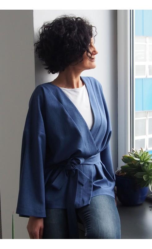 Modne kimono do biura, Śliczny żakiet w casualowym stylu od Choice