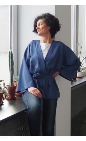 Gustowne kimono podkreślające wcięcie w talii, Krótkie narzutki na lato od Choice
