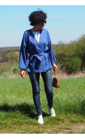 Piękna narzutka na niedzielny spacer, Wygodne kimona w casualowym stylu od Choice