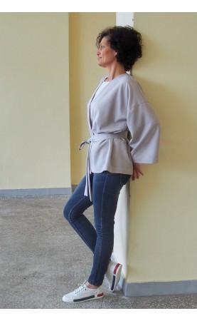 Krótki kimono a'la stylowy żakiet, Casualowe stylizacje do pracy lub na spotkania od Choice