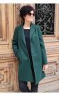 Modny płaszcz w zielonym kolorze, Atrakcyjne okrycia wierzchnie wizytowe od Choice