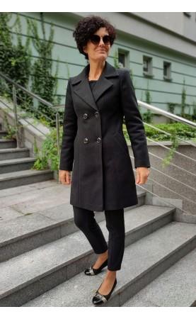 Elegancki płaszcz w czarnym kolorze, Piękne okrycia wierzchnie dla kobiety w każdym wieku od Choice