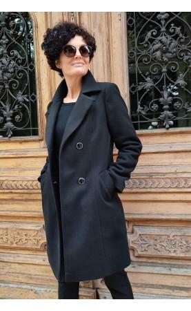 Piękny płaszcz z zapięciem dwurzędowym, Wizytowe okrycia wierzchnie z kieszeniami od Choice